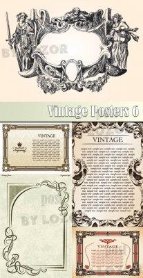 Клипарт в векторе - Vintage Posters 6