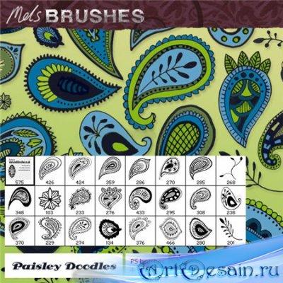 Кисти для фотошопа - MELSBRUSHES paisleydoodles