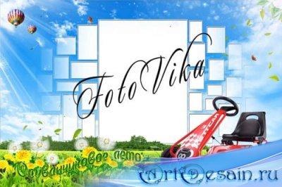 Детская рамка для фотошопа - Одуванчиковое лето