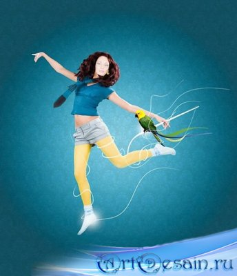 Шаблон для Фотомонтажа - Танцы