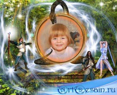 Детская рамка для фотошопа - Волшебный шар