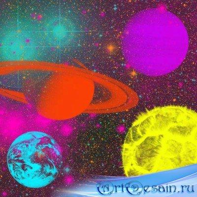 Коллекция кистей - Небесные тела
