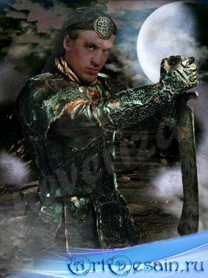 Шаблон для фотошопа – Чёрный рыцарь
