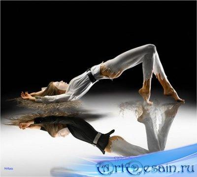 Шаблон для фотошопа - Отражение