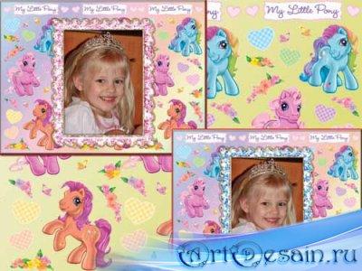 Детская рамка для фотошопа - My Little Pony