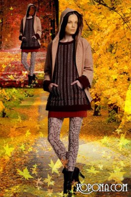Женский шаблон для фотошопа - Дорога в осень
