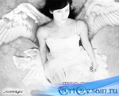 Шаблон для фотомонтажа - Ангел!