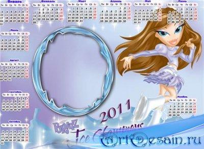 Календарь-рамка на 2011 год-Братц