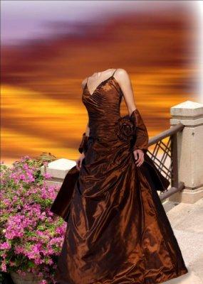 Шаблон для фотошопа - Дама в красном плате