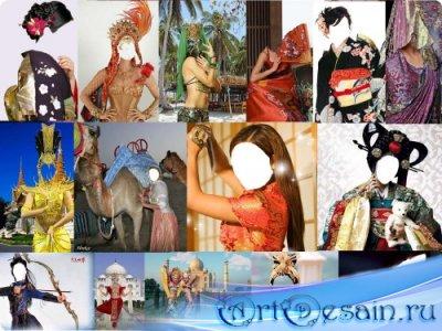 Шаблоны для фотошоп - Восточные красавицы