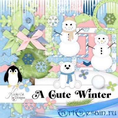 Cкрап-набор - Cute winter
