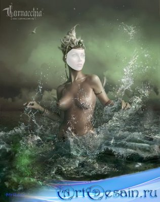 Шаблон для фотошопа - Афродита
