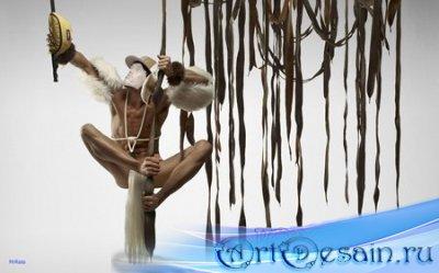 Шаблон для фотошопа - Тарзан