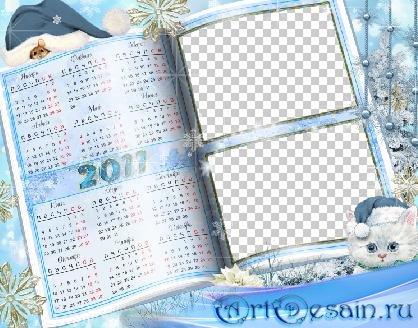 Календарь-рамочка на 2011 год - Зимняя книга