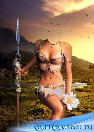 Шаблон для фотошопа - Прелестная амазонка.