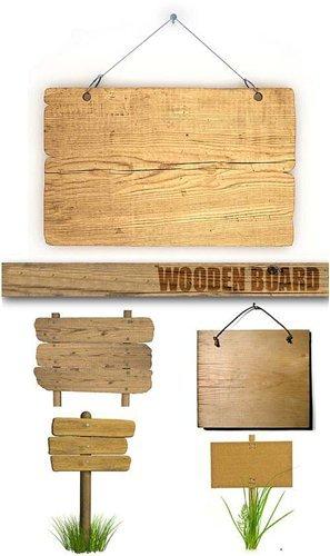 Stock Photo - Деревянные таблички (Wooden Board)