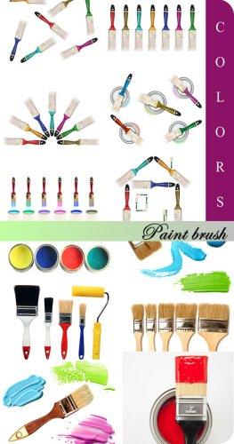 Stock Photo - Цветные кисти (Paint brush)
