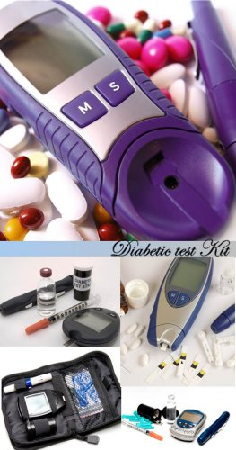 Stock Photo - Diabetic test Kit