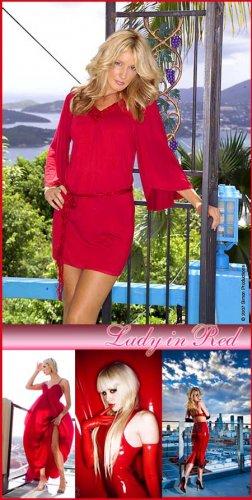 Stock photo - Леди в красном (Lady in Red)