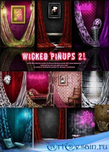 Фоны и клипарт для Фотошопа - Wicked pinups - 2
