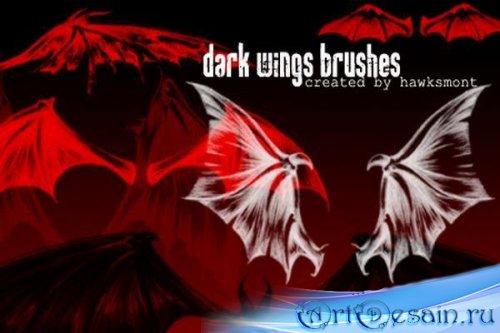 Dark Wings Brushes кисти Фотошопа