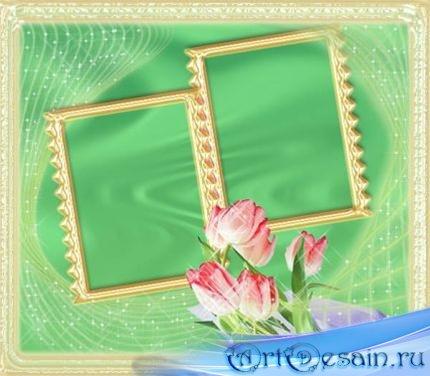 Рамка-открытка для фотошопа - С любовью