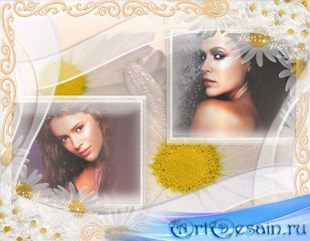 Рамка для фотошопа - Двойной портрет