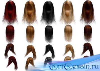Стильные парики PSD для фотошопа