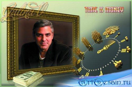 Рамка для фото мужчины - Время - деньги