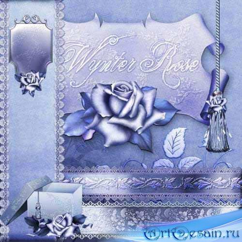 Скрап-набор - Зимняя роза