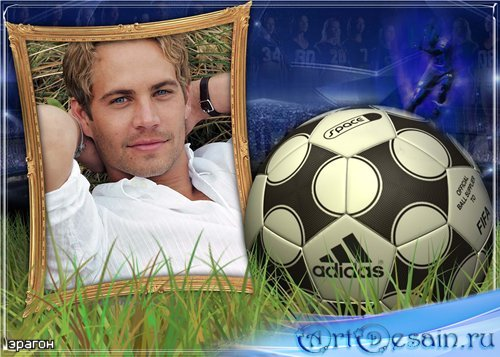 Мужская рамочка для фотошопа – Футбол