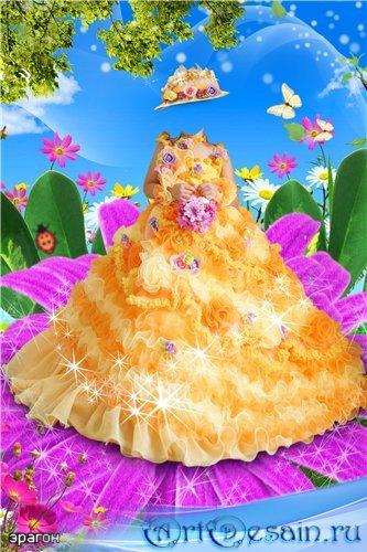 Детский шаблон для фотошопа – Цветочек