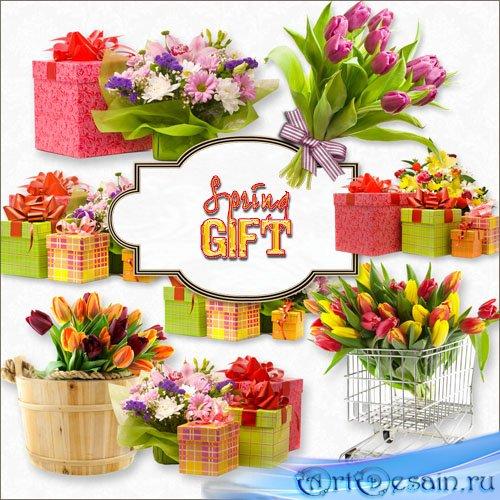 Клипарт PNG - Весенние подарки