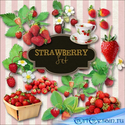 Scrap-kit - Strawberry Set