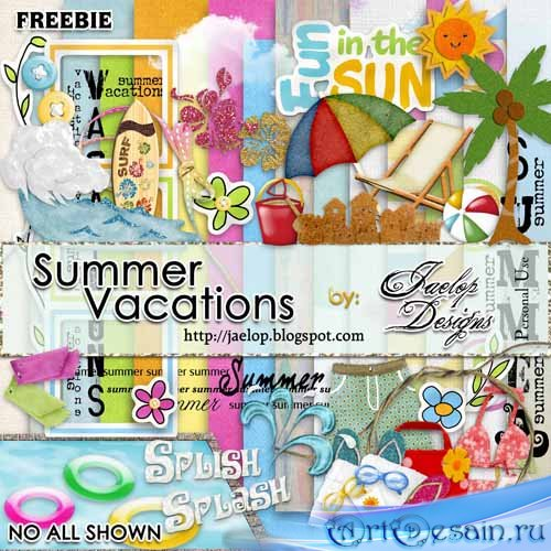Скрап-набор - Летние каникулы