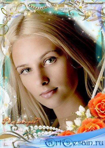 Романтическая рамка для Photoshop – Нежность роз