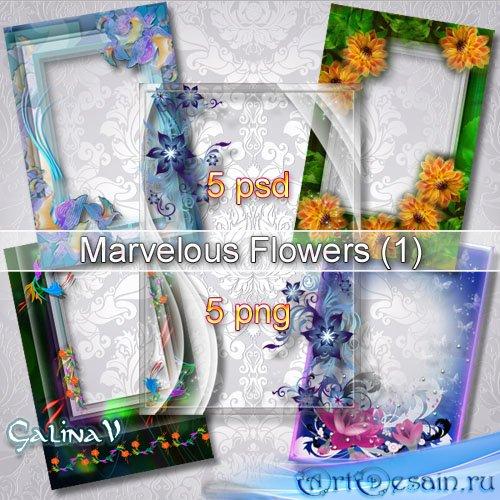 Набор рамок для фото - Дивные цветы (Part 1)