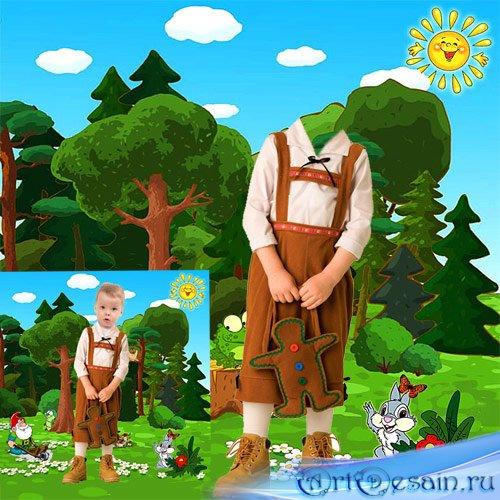 Детский шаблон для фото  В лесу