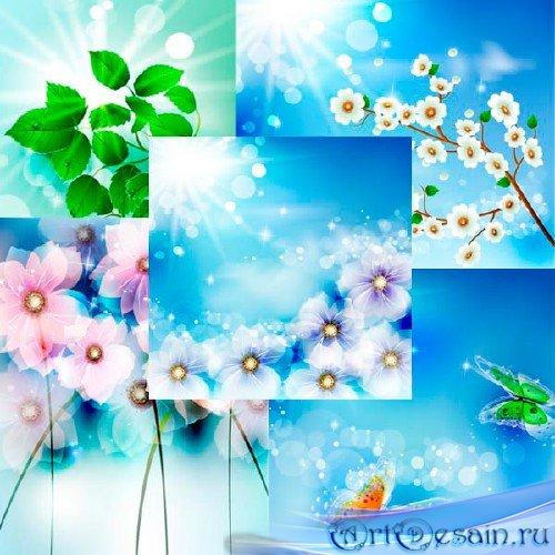 Абстрактные цветочные фоны в векторе