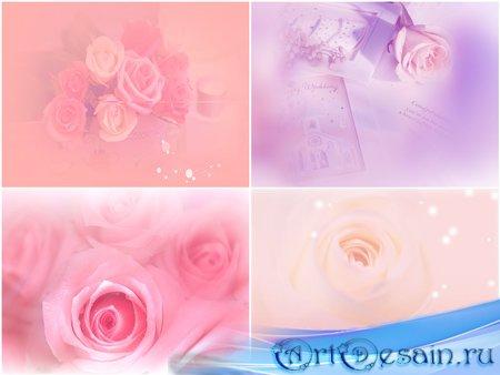 Красивые PSD фоны для фотошопа с розами