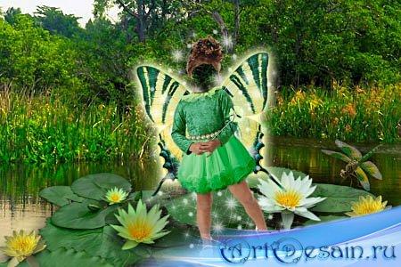 Детский шаблон для фотошопа - Речная фея
