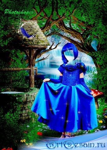 Детский шаблон для фотошопа – В сказочном лесу