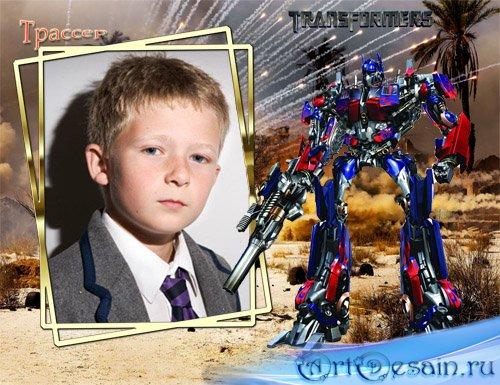 Фоторамочка для мальчиков - Трансформер Оптимус Прайм