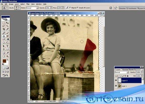 Учимся восстанавливать старые фотографии с помощью Photoshop