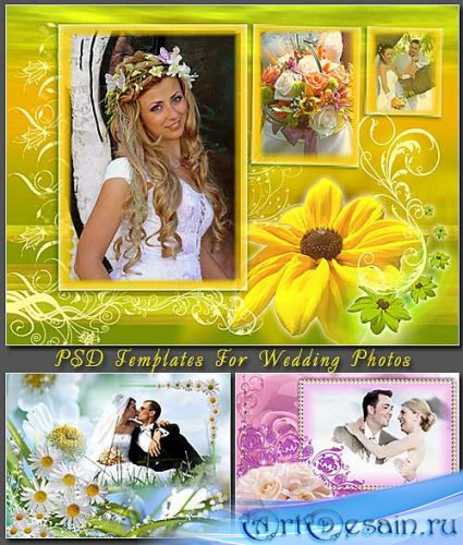 PSD Templates For Wedding Photos