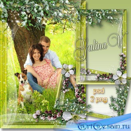 Романтическая фоторамка - Весна для двоих