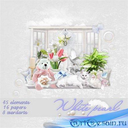 Скрап-набор - Белая жемчужина / Scrap kit - White Pearl