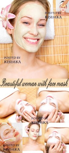Stock Photo - Beautiful woman with face mask