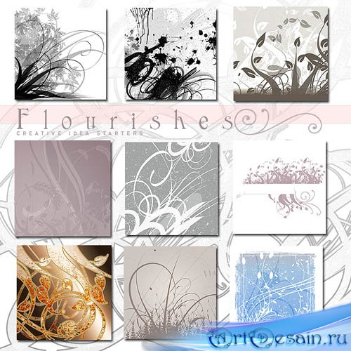 Кисти для Photoshop - Rons Flourishes Brushes