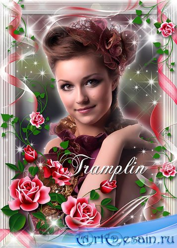 Рамка для фотошопа – Улыбка  феи, бархатная кожа, румянец на щеках и нежный ...